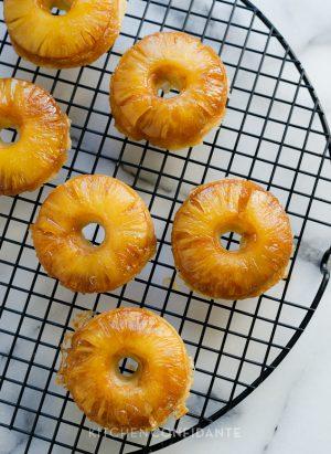 Pineapple Upside Down Cake Doughnuts | Kitchen Confidante