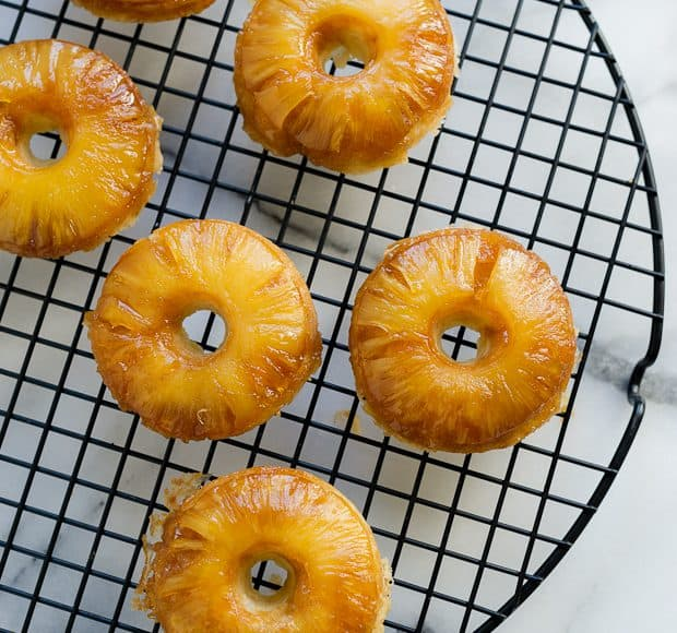 Pineapple Upside Down Cake Doughnuts | Kitchen Confidante