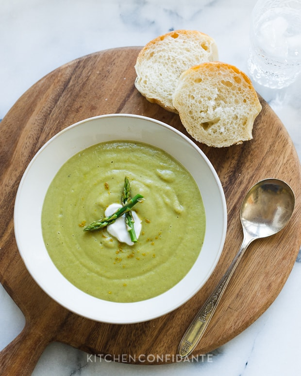 Roasted Asparagus and Sweet Potato Soup
