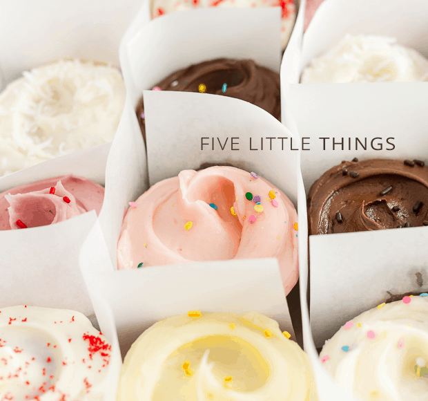 Five Little Things - June 21, 2013 | www.kitchenconfidante.com | Cupcakes