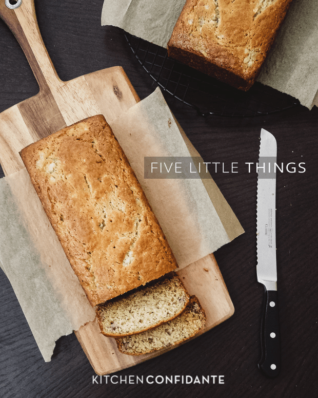 Five Little Things | Kitchen Confidante | June 14, 2013 | Buttermilk Banana Bread