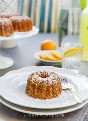 Meyer Lemon Mini Bundt Cakes | Kitchen Confidante | www.kitchenconfidante.com
