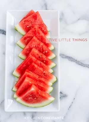 Five Little Things - July 19, 2013 | www.kitchenconfidante.com | Watermelon Slices