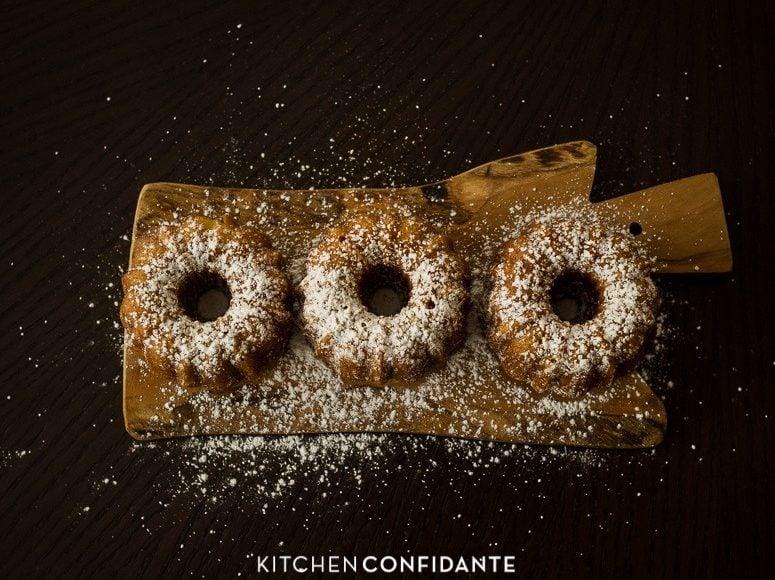 Banana Pineapple Mini Bundt Cakes | www.kitchenconfidante.com