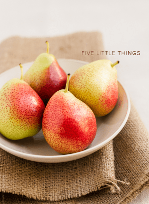 Five Little Things - September 13, 2013 | www.kitchenconfidante.com | Bowl of Pears