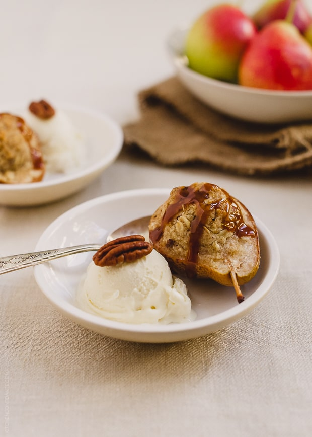 Stuffed Pear Crisp | www.kitchenconfidante.com