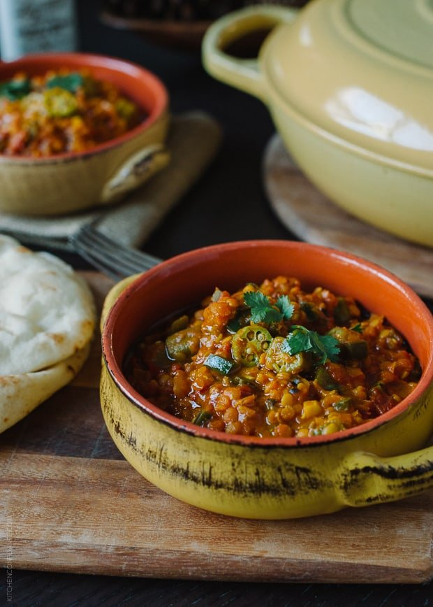 Lentil Okra Curry | www.kitchenconfidante.com