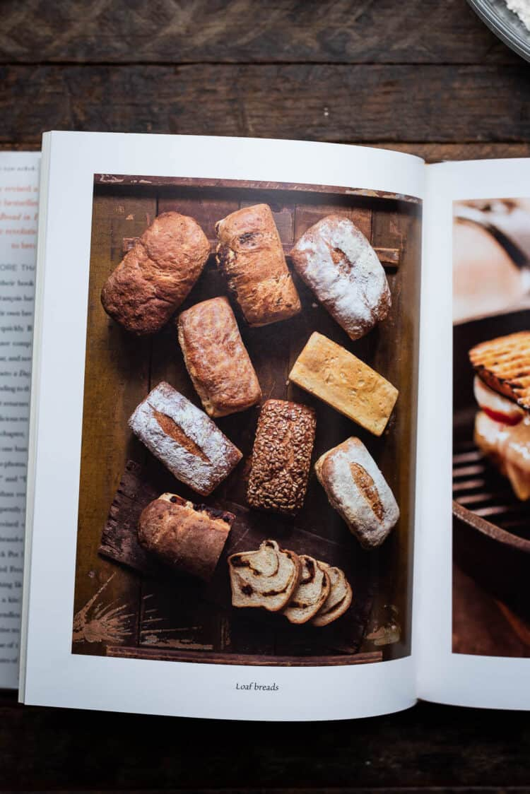 The New Artisan Bread in Five Minutes a Day cookbook interior.