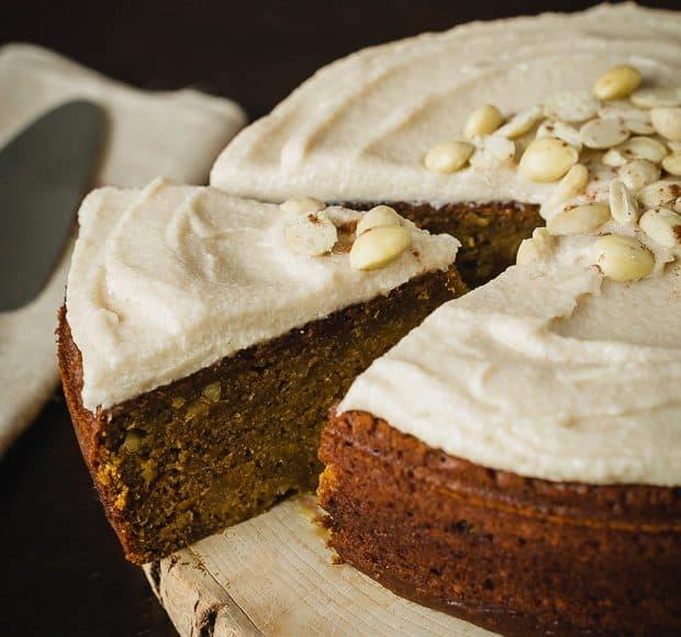 Pumpkin Marcona Almond Cake | www.kitchenconfidante.com