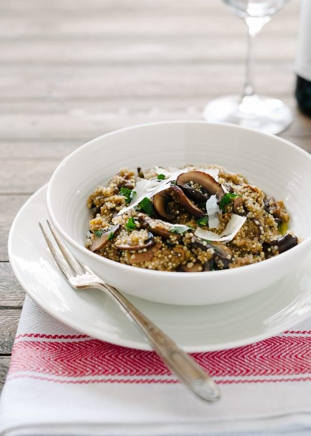 Mushroom Quinoa Risotto | www.kitchenconfidante.com