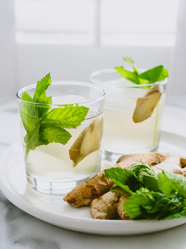 Ginger-Mint Coconut Water Cooler