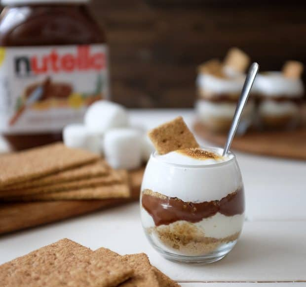 Nutella S'mores Parfait | www.kitchenconfidante.com