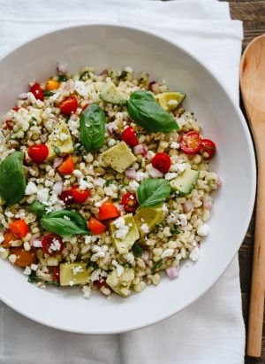 Summer Corn and Barley Salad | www.kitchenconfidante.com