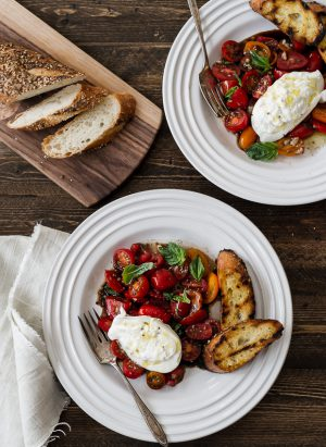 Burrata with Heirloom Tomatoes | www.kitchenconfidante.com