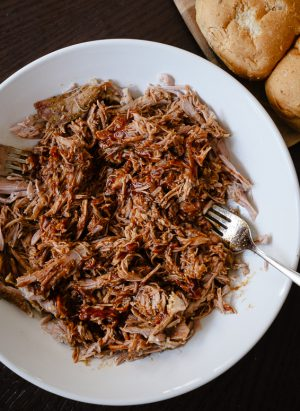 Slow Cooker Stout Pulled Pork | www.kitchenconfidante.com