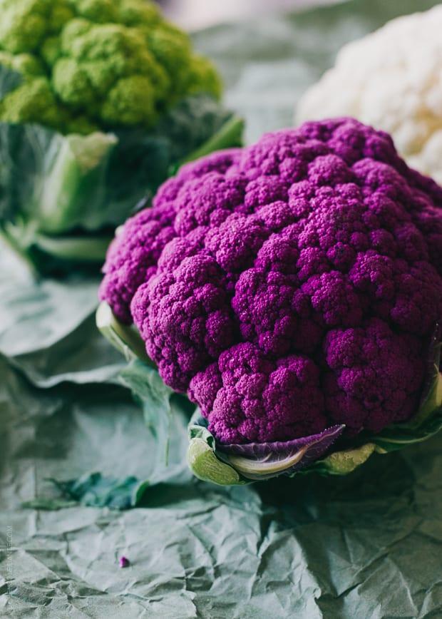 A purple cauliflower.