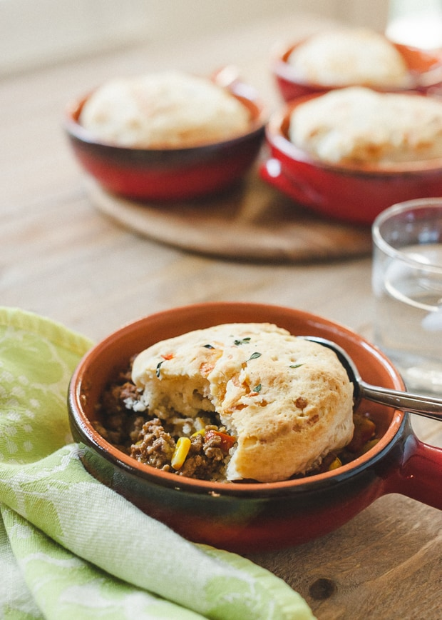 Buttermilk-Gruyere Biscuit Topped Shepherd's Pie | www.kitchenconfidante.com | Simple, comforting, and so easy to make!