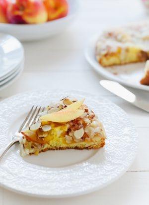 Nectarine Crumb Cake | www.kitchenconfidante.com