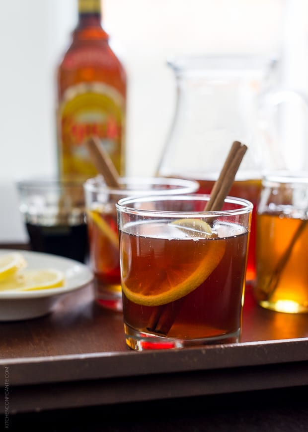 Chai Hot Toddy on a tray.