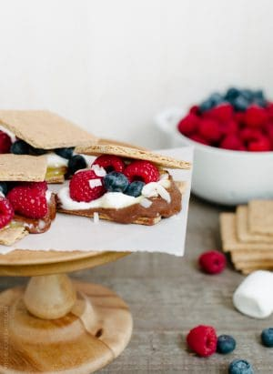 Coconut Jam Berry S'mores | www.kitchenconfidante.com