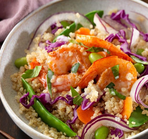 Thai Shrimp Quinoa Bowl | www.kitchenconfidante.com