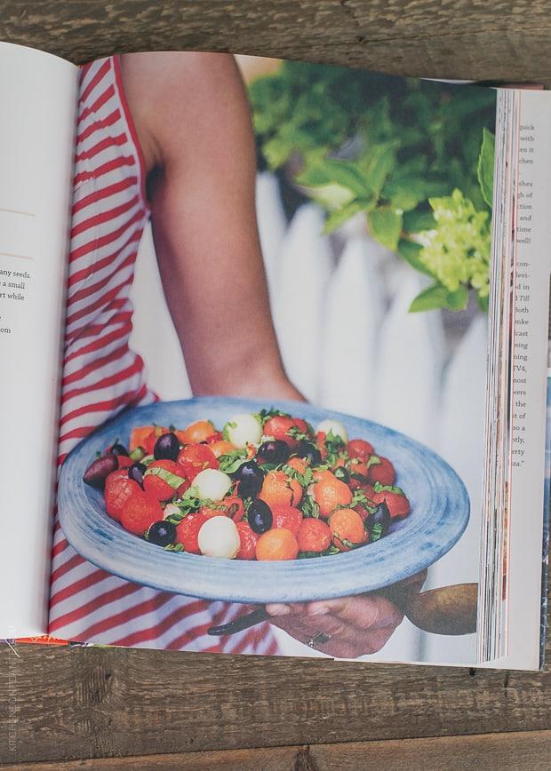 A peek inside The Summer Table Cookbook.