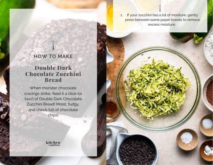 Double Dark Chocolate Zucchini Bread | www.kitchenconfidante.com