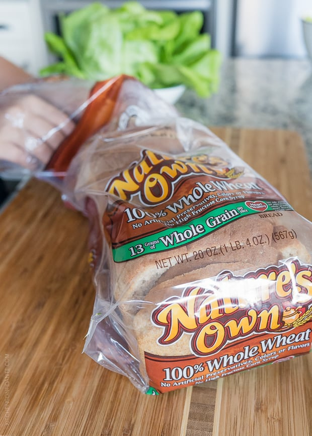 A loaf of Nature's Own whole wheat bread.