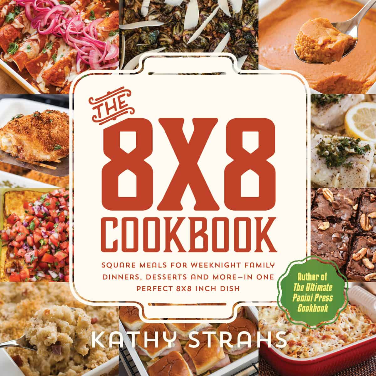 The 8x8 cookbook by Kathy Strahs - cover image.