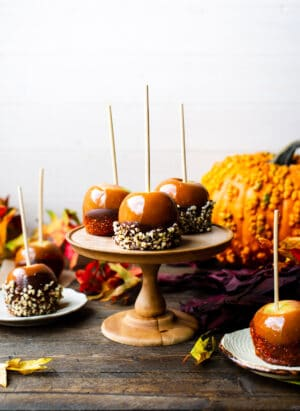 Double Dipped Chocolate Caramel Apples | www.kitchenconfidante.com | Because double dipping can be a good thing. This simple recipe makes for the perfect Halloween treat!