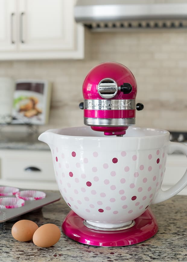 Cook for the Cure with the KitchenAid Stand Mixer on a granite counter top.