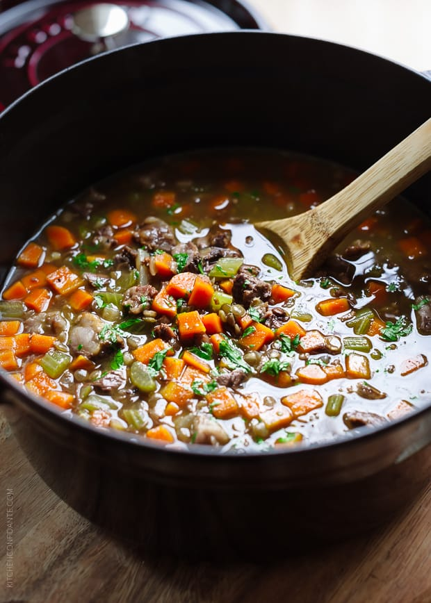 Prime Rib Beef and Lentil Soup - let holiday leftovers keep giving.