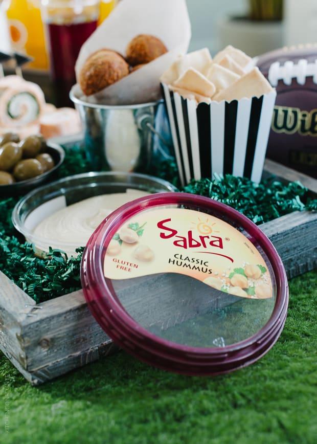Dip these Roasted Eggplant Falafel Bites in Sabra Hummus!