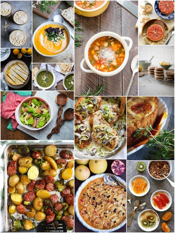 A collage image of Eat Seasonal Recipes for January