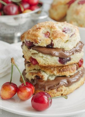 Cherry Nutella Scones are a sweet way to celebrate #WorldNutellaDay!