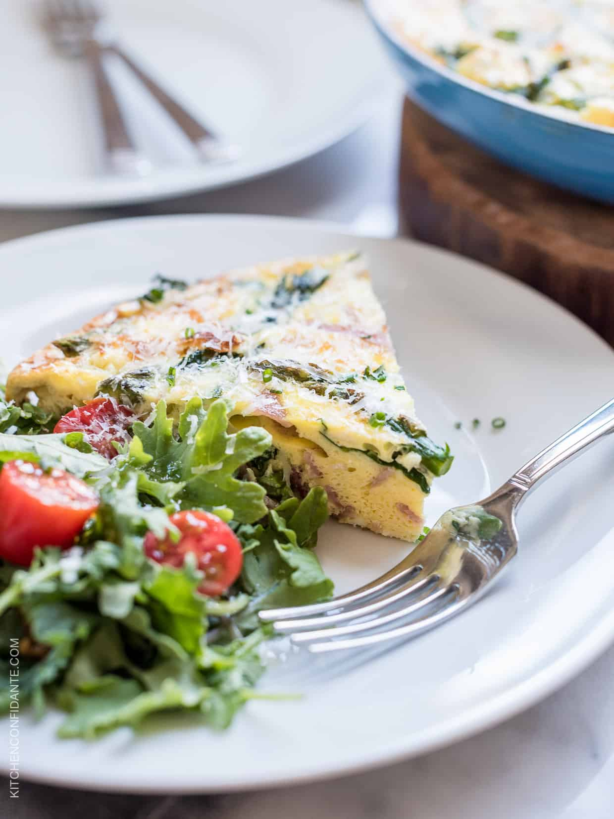 Asparagus, Ham and Kale Frittata