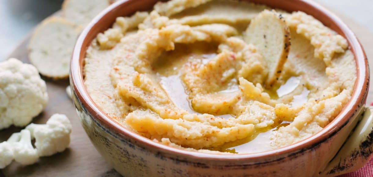 You're going to be tempted to double dip into this Pappadew Pepper Cauliflower Hummus!