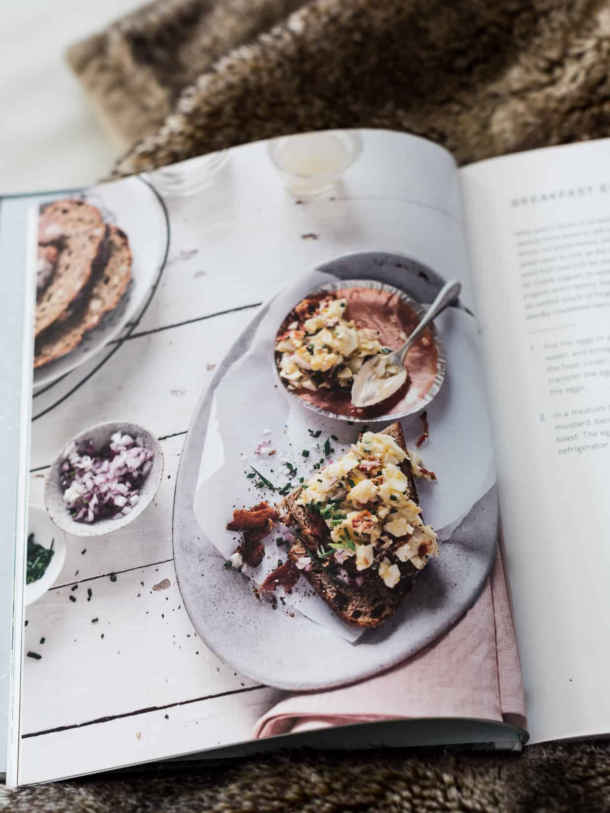 Inside pages of Andie Mitchell's cookbook, Eating in the Middle.