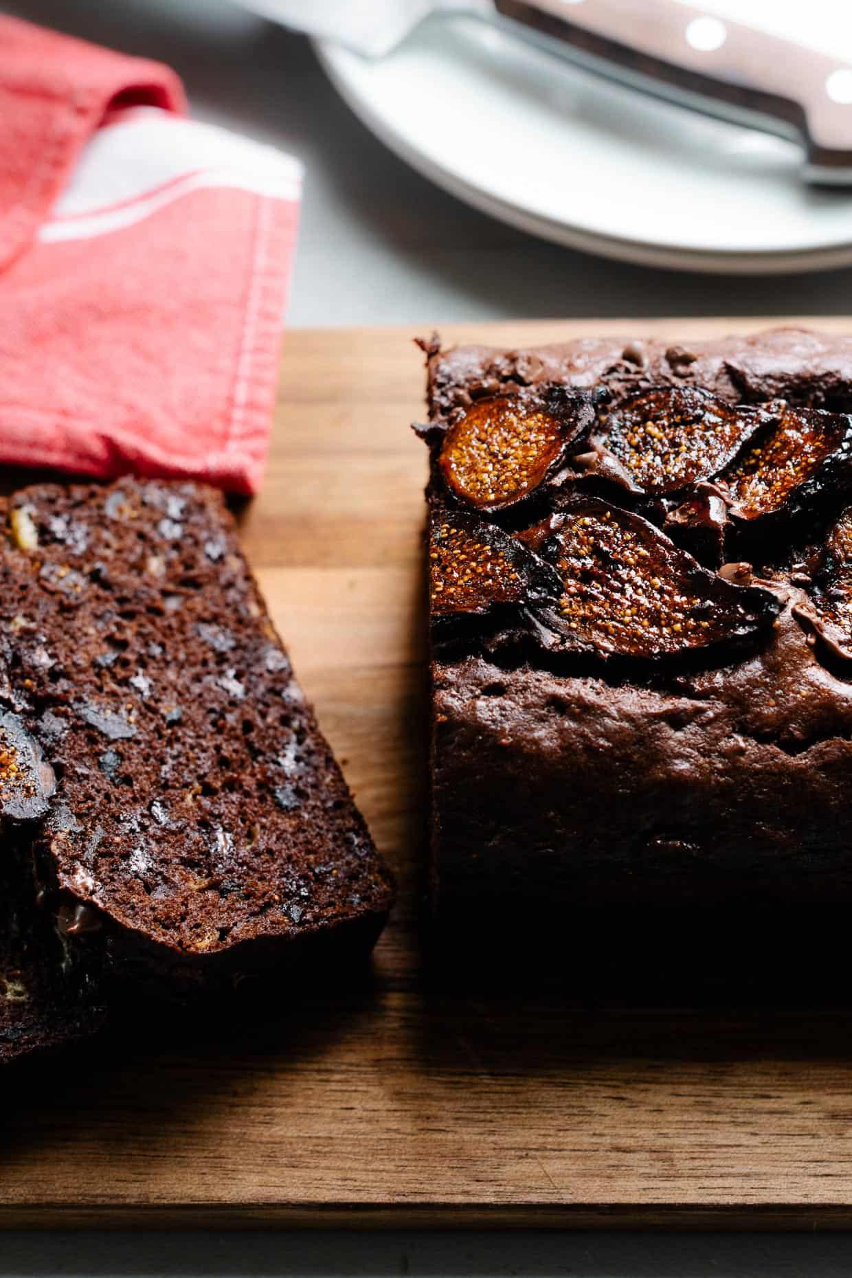 Chocolate Banana Fig Bread