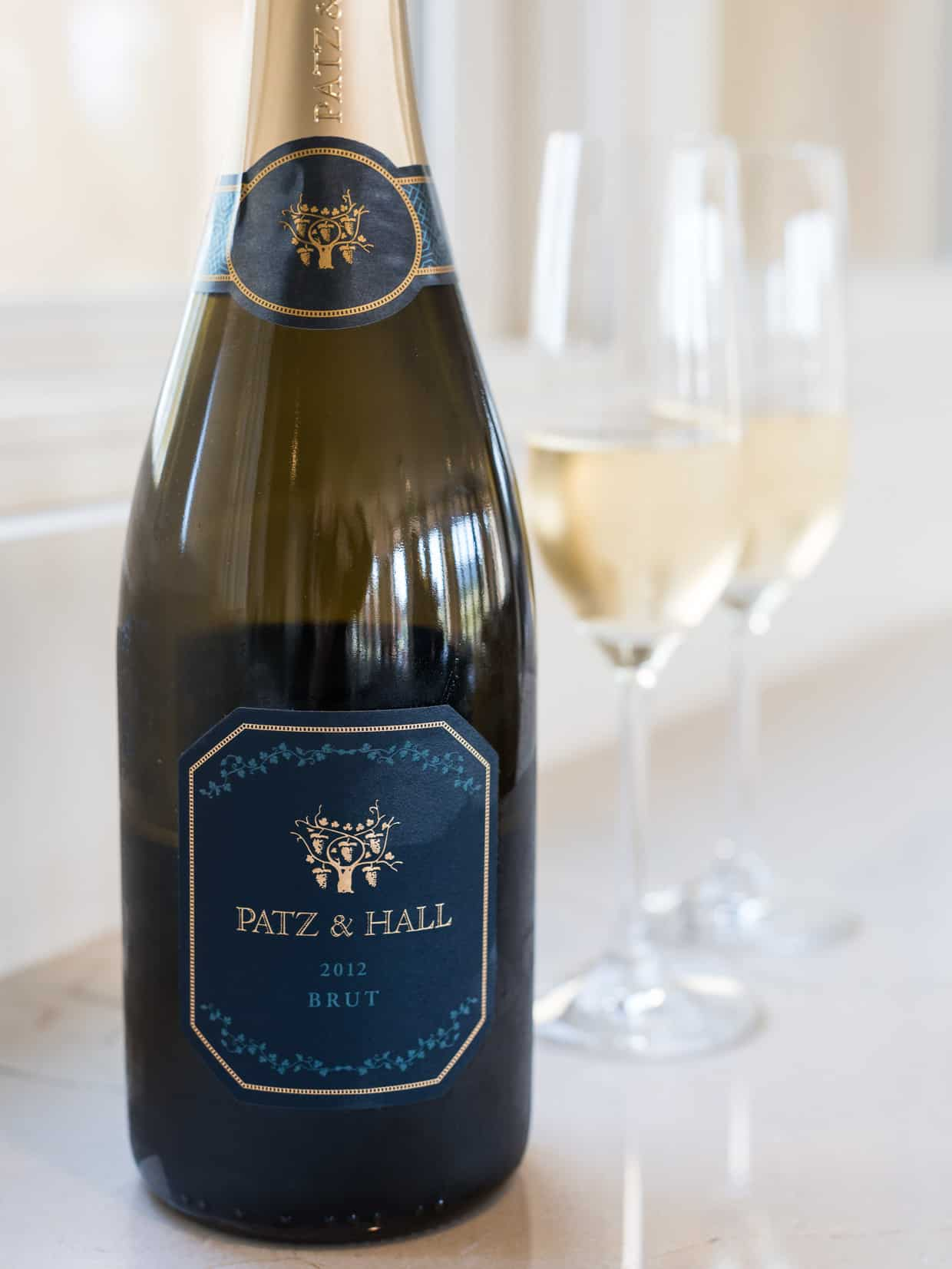 A bottle of Patz & Hall 2012 Brut.