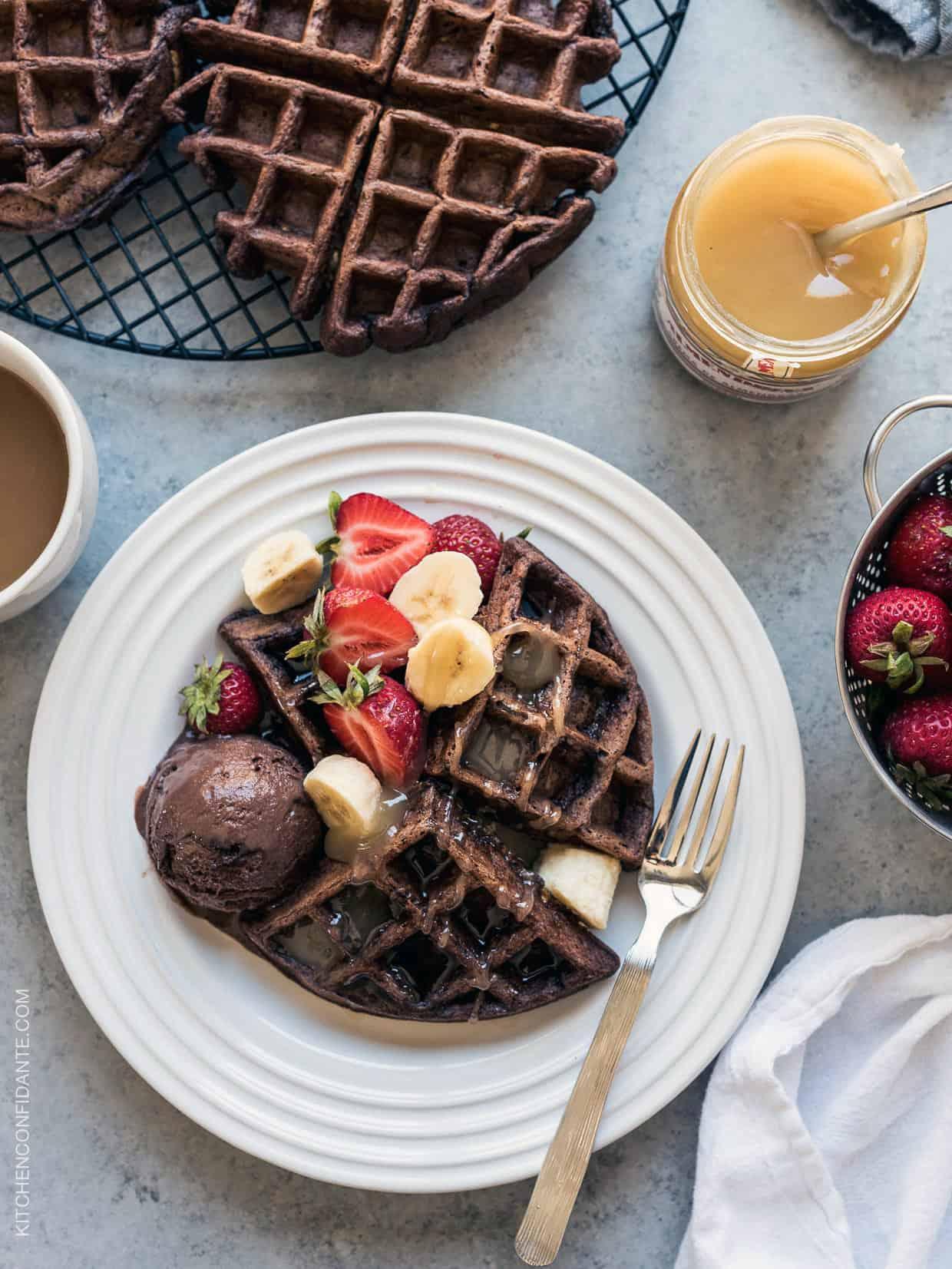 Chocolate Zucchini Belgian Waffles