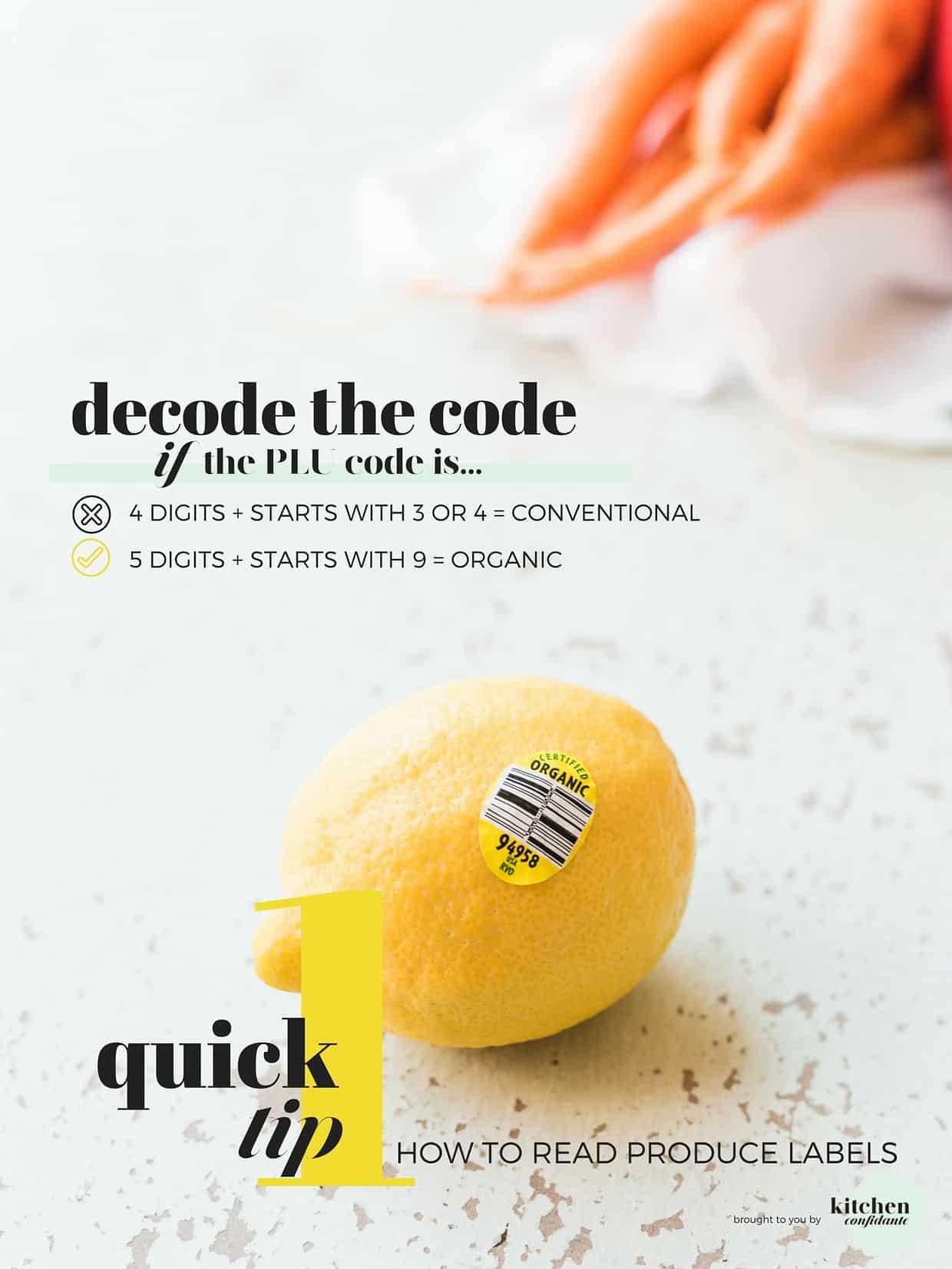 Organic lemon on rustic surface.