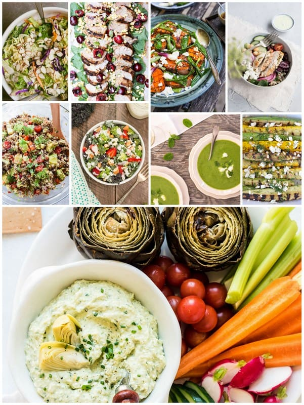 Eat Seasonal - A Collage of July Recipes