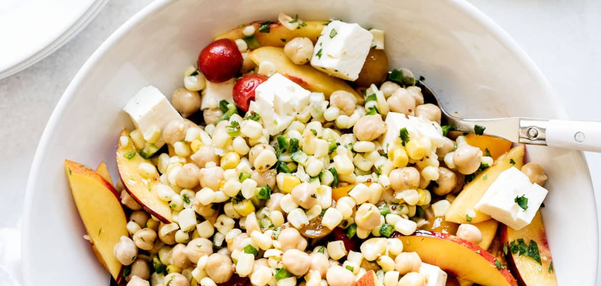 Tomato Corn And Nectarine Pea Salad All Of Your Favorite Summer Fruits