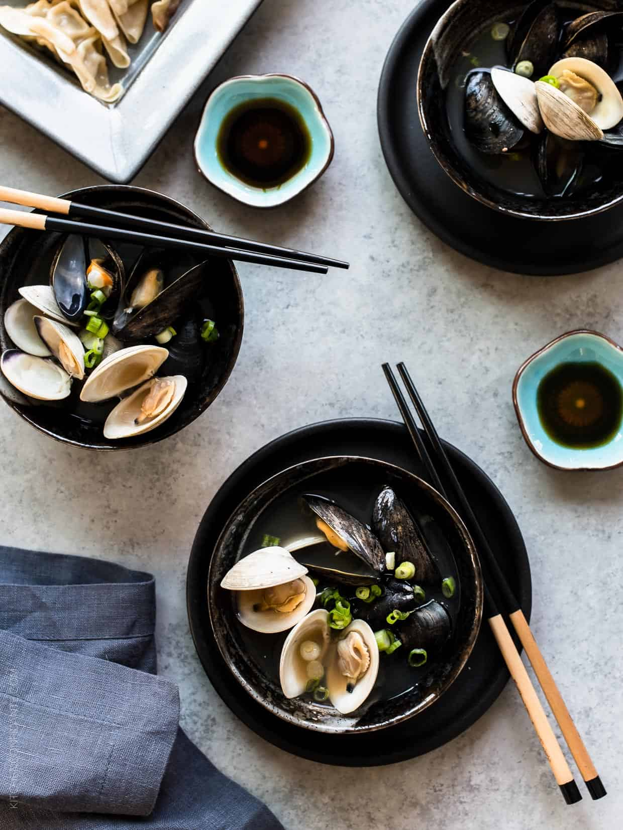 Clam and Mussel Miso Soup