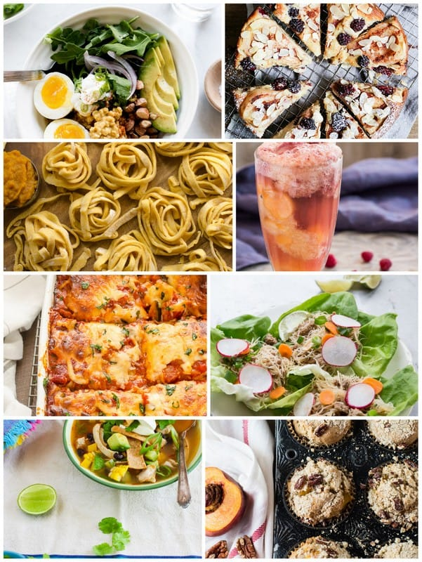 Collage graphic of Eat Seasonal September Recipes