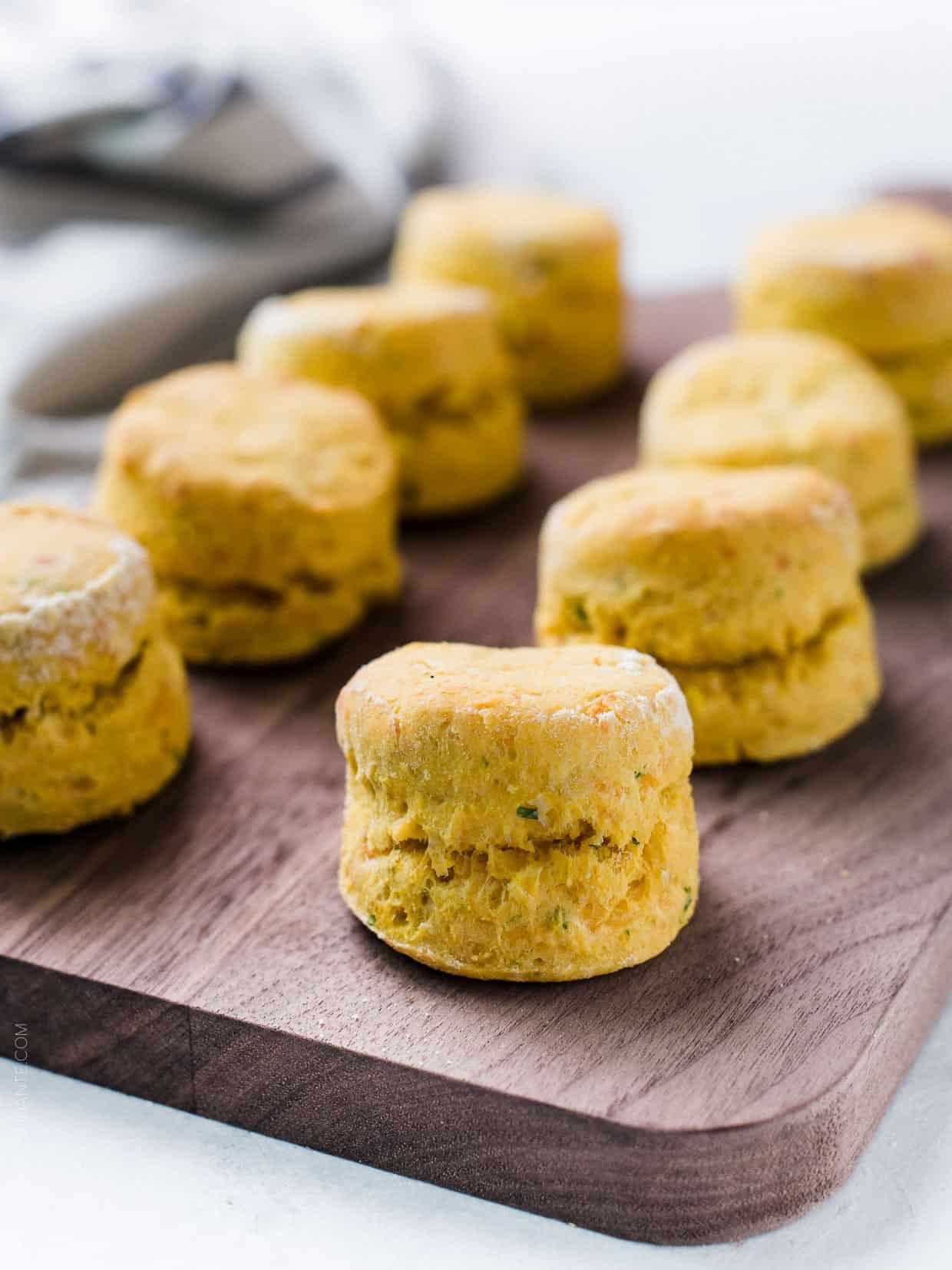 Pumpkin Cheddar Biscuits
