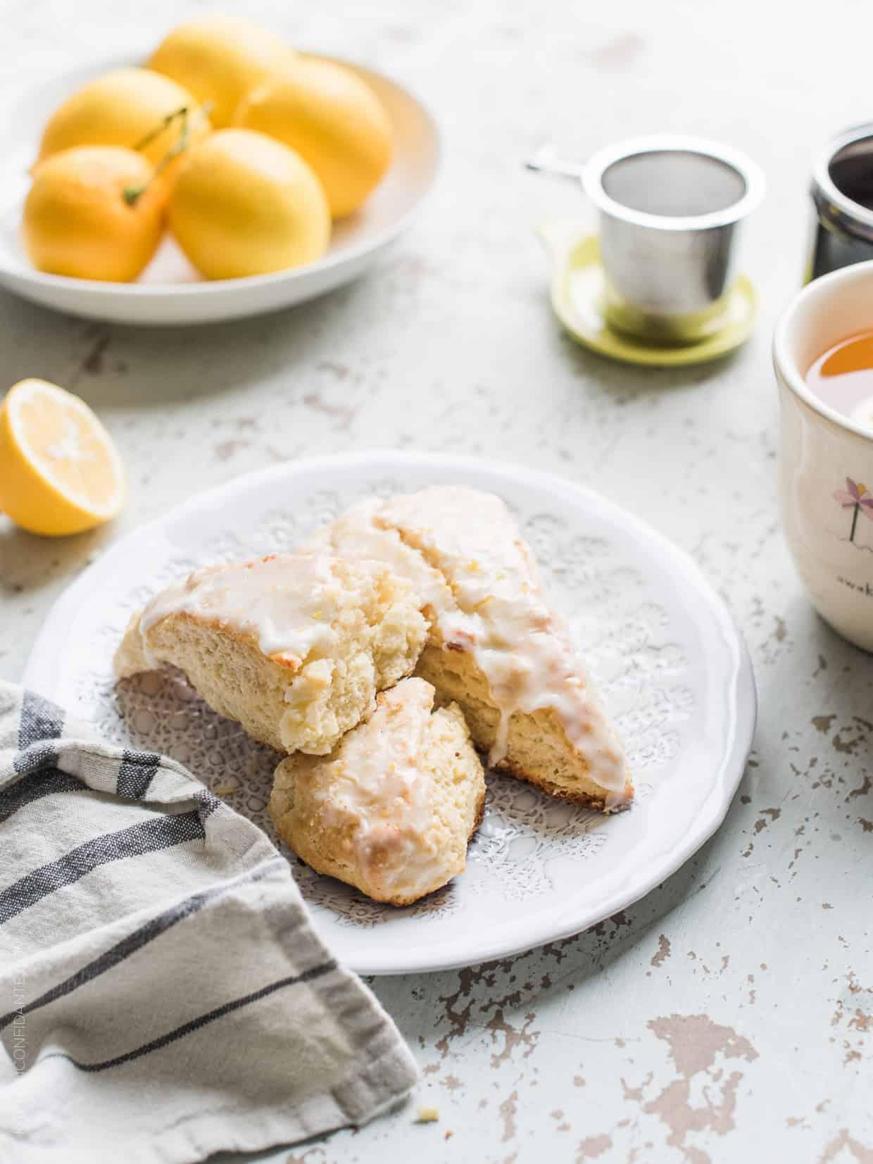 Meyer Lemon Ricotta Scones