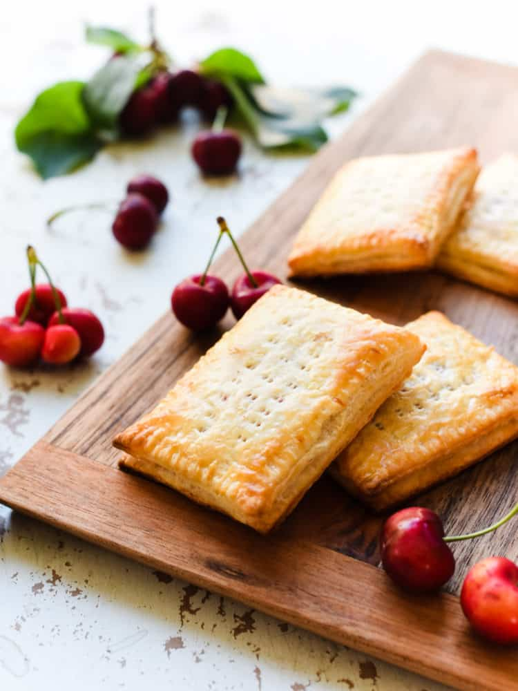 Eat your homemade cherry pop tarts unglazed or glazed, it's all delicious with this easy recipe!