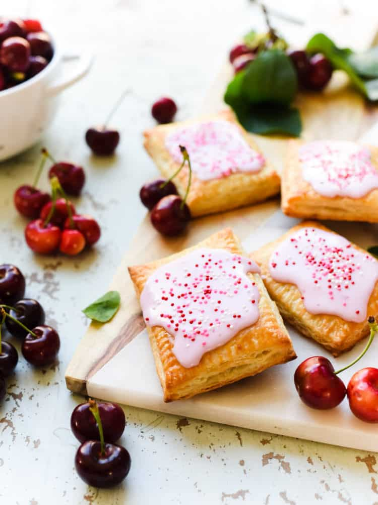 Pop tarts bring out the kid in all of us, especially when it's homemade. Try this easy cherry pop tart recipe with a homemade cherry jam!